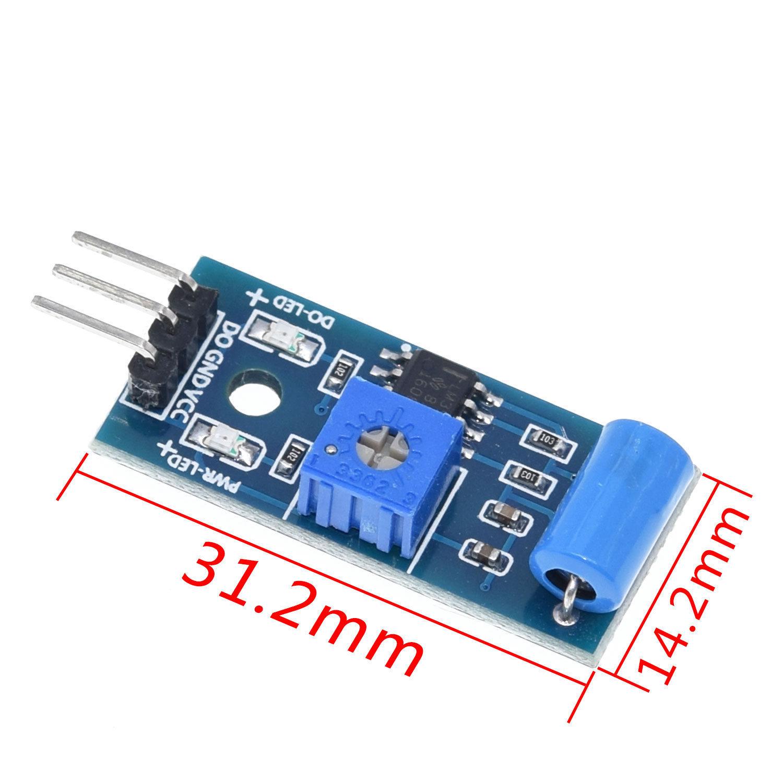 Normally closed type vibration sensor module Alarm sensor module Vibration switch SW-420 for arduino