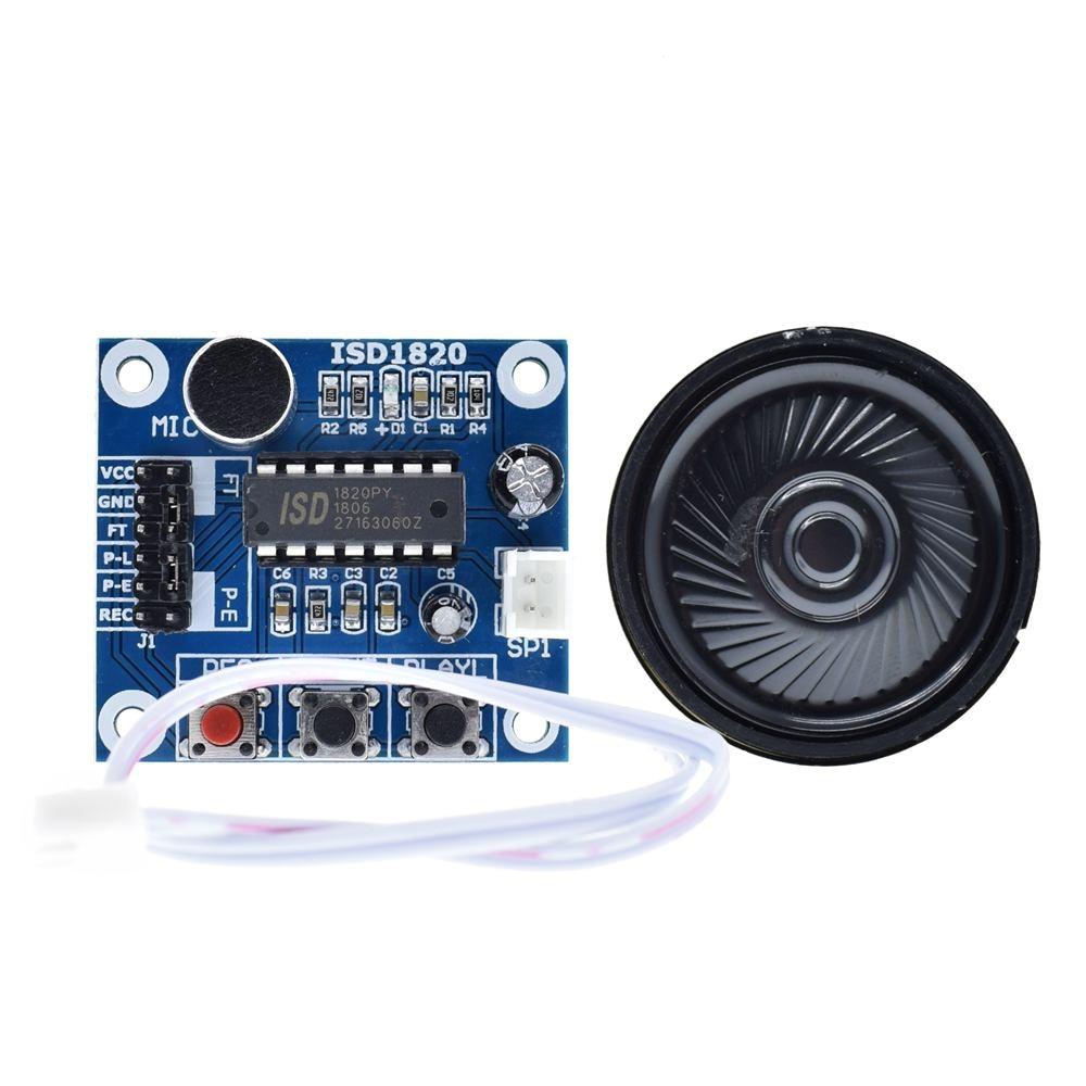 ISD1820 recording module voice module the voice board telediphone module board with Microphones + Loudspeaker