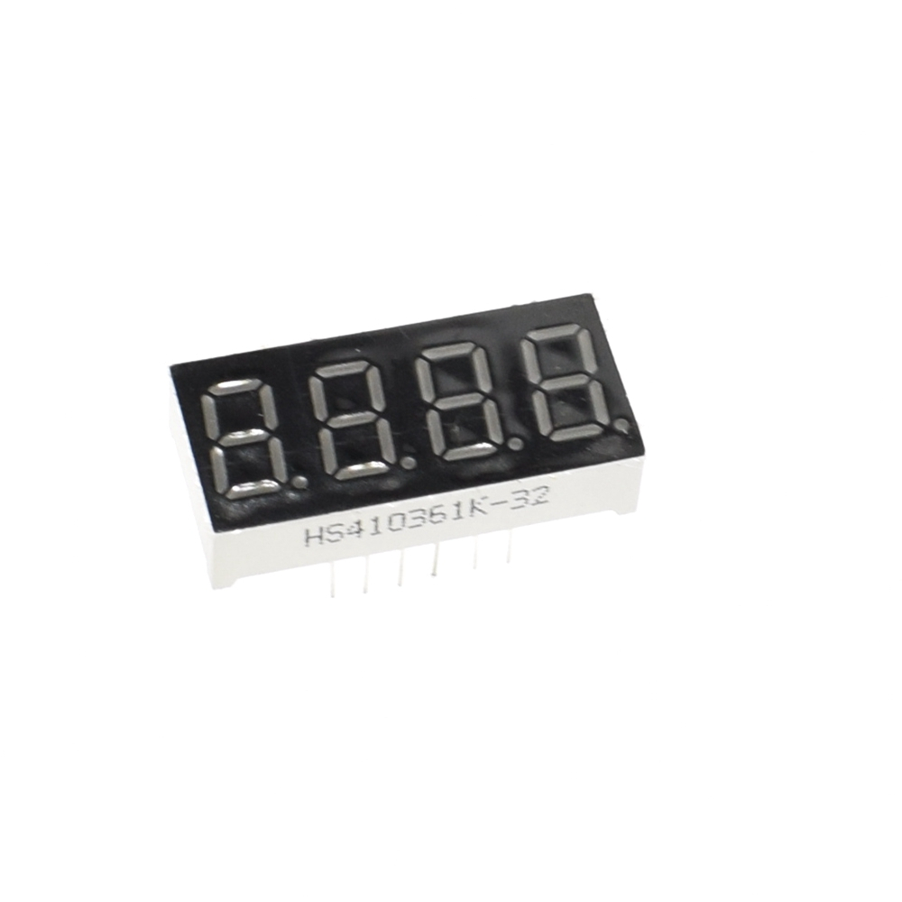 0.56 inch 4bit Common Cathode Digital Tube Red LED Digit Display 7 Segment 0.5inch 0.5 0.56 inch 0.56'' 0.56in. 4 Four bit