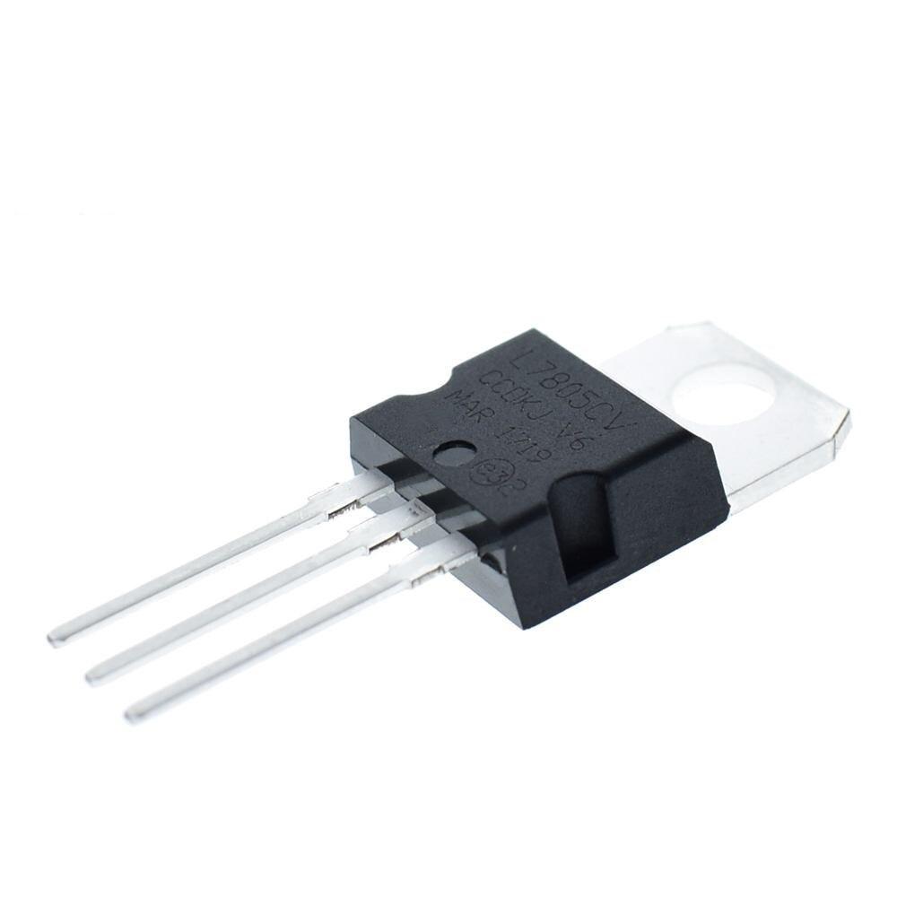 New L7805CV voltage regulator TO-220 L7805 7805 5V POSITIVE VOLTAGE REGULATORS