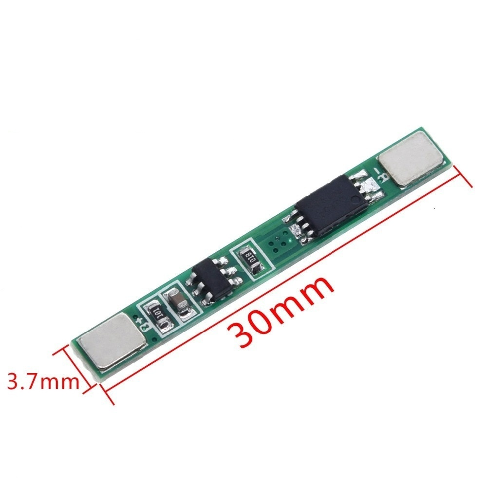 1S 3.7V 3A li-ion BMS PCM battery protection board pcm for 18650 lithium ion li battery