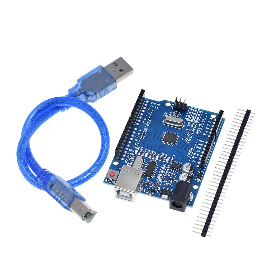 UNO R3 Development Board ATmega328P CH340 CH340G For Arduino UNO R3 With Straight Pin Header with Cable