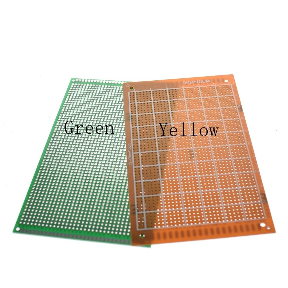 9x15 9*15cm Single Side Prototype PCB Universal Board Experimental Bakelite Copper Plate Circuirt Board yellow