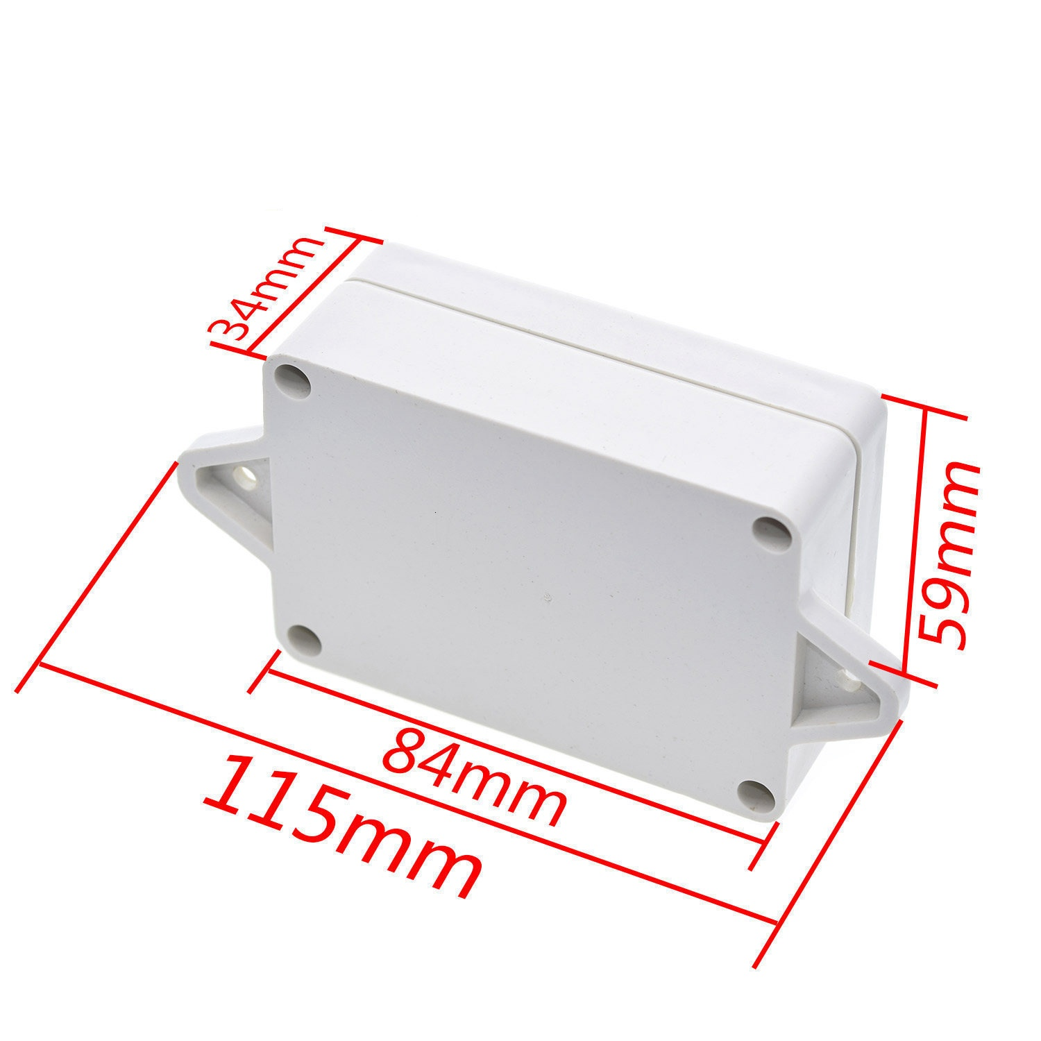 85x58x33mm Waterproof Cover Plastic Electronic Cable Project Box Enclosure Case DIY