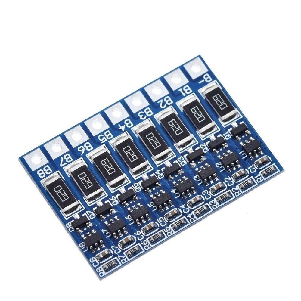8S 4.2v li-ion balancer board 18650 li-ion balancing full charge battery balance board