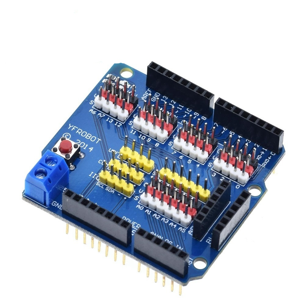V5 Sensor Shield Expansion Board Shield For Arduino UNO R3 V5.0 Electronic Module Sensor Shield V5 expansion board