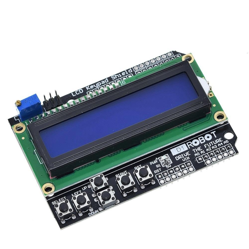 LCD Keypad Shield LCD1602 LCD 1602 Module Display For Arduino ATMEGA328 ATMEGA2560 raspberry pi UNO blue screen