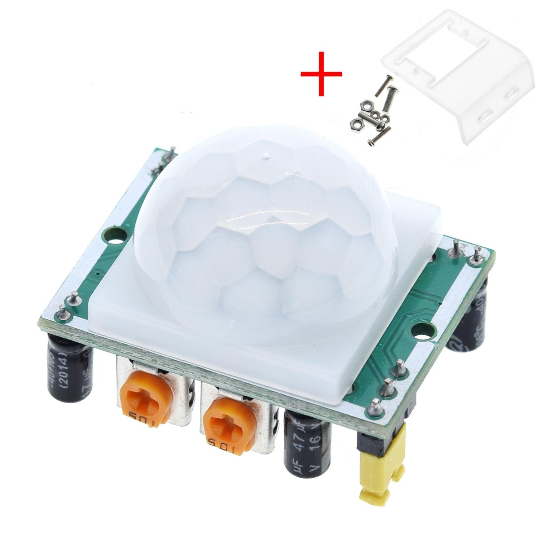 HC-SR501 Adjust IR Pyroelectric Infrared PIR Motion Sensor Detector Module for arduino for raspberry pi kits + Case
