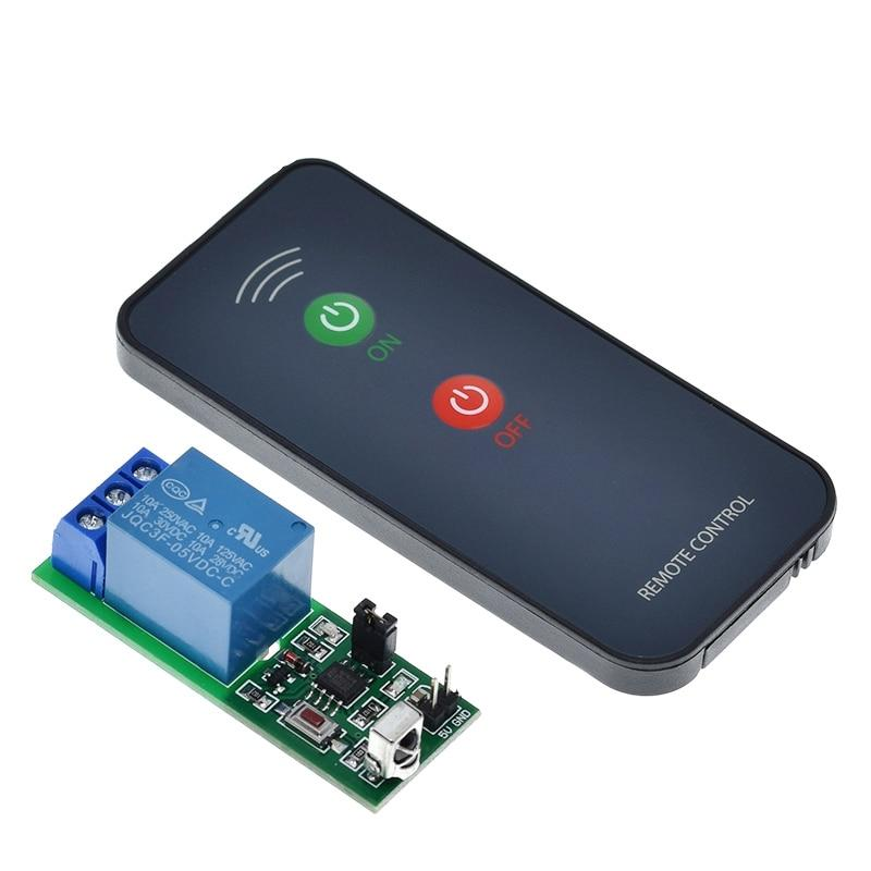 IR 1 Channel Infrared Receiver Driving Switch Relay Driver Module Board 5V + Active Remote Controller