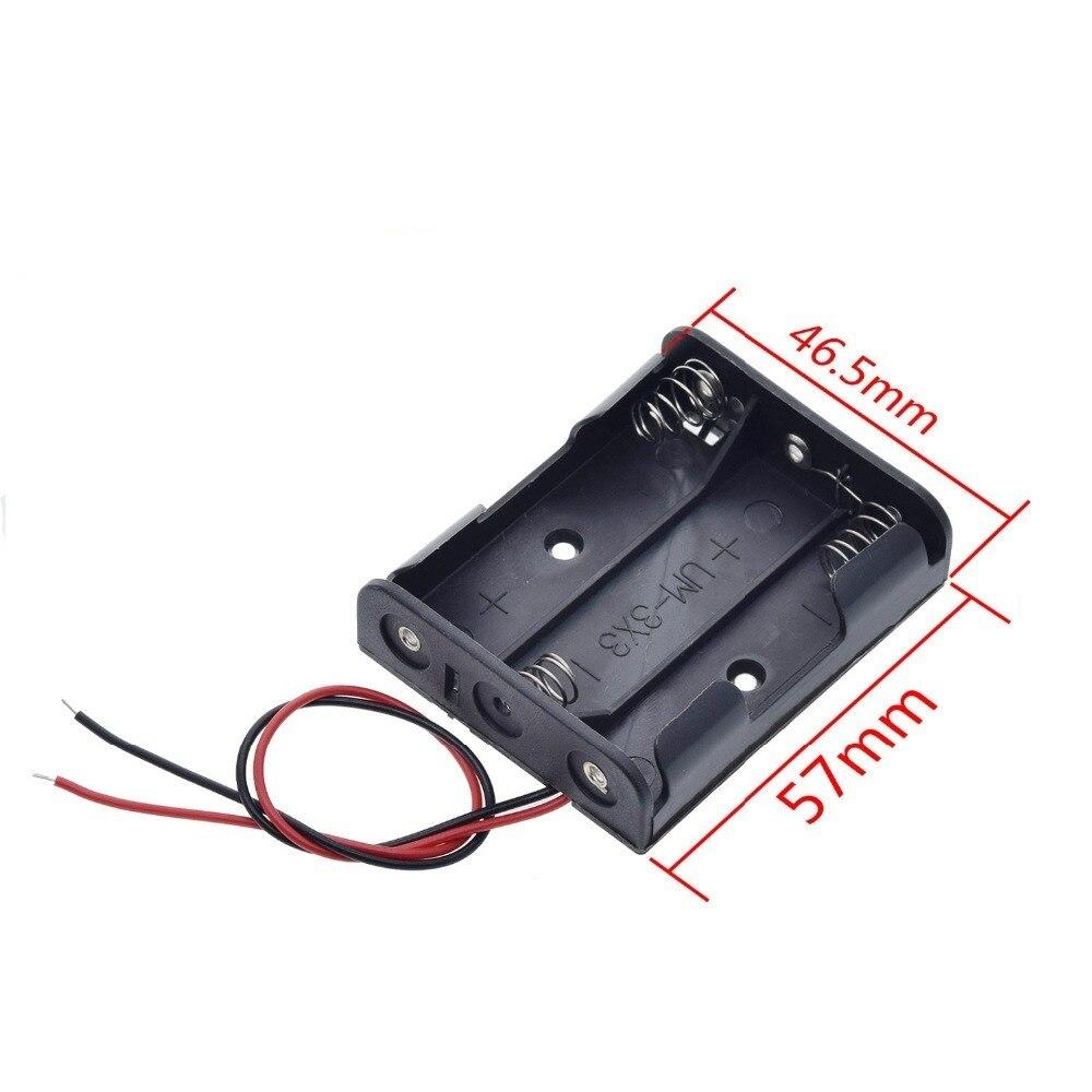 1pc AA Size 5 Battery Storage Box Case Holder Leads With 1 2 3 4 Slots Container Bag DIY Standard Batteries Charging