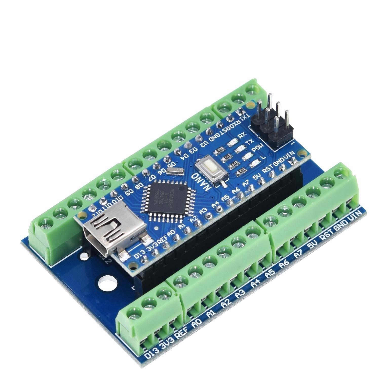 NANO V3.0 Controller Terminal Adapter Expansion Board NANO IO Shield Simple Extension Plate For Arduino AVR ATMEGA328P Nano 3.0