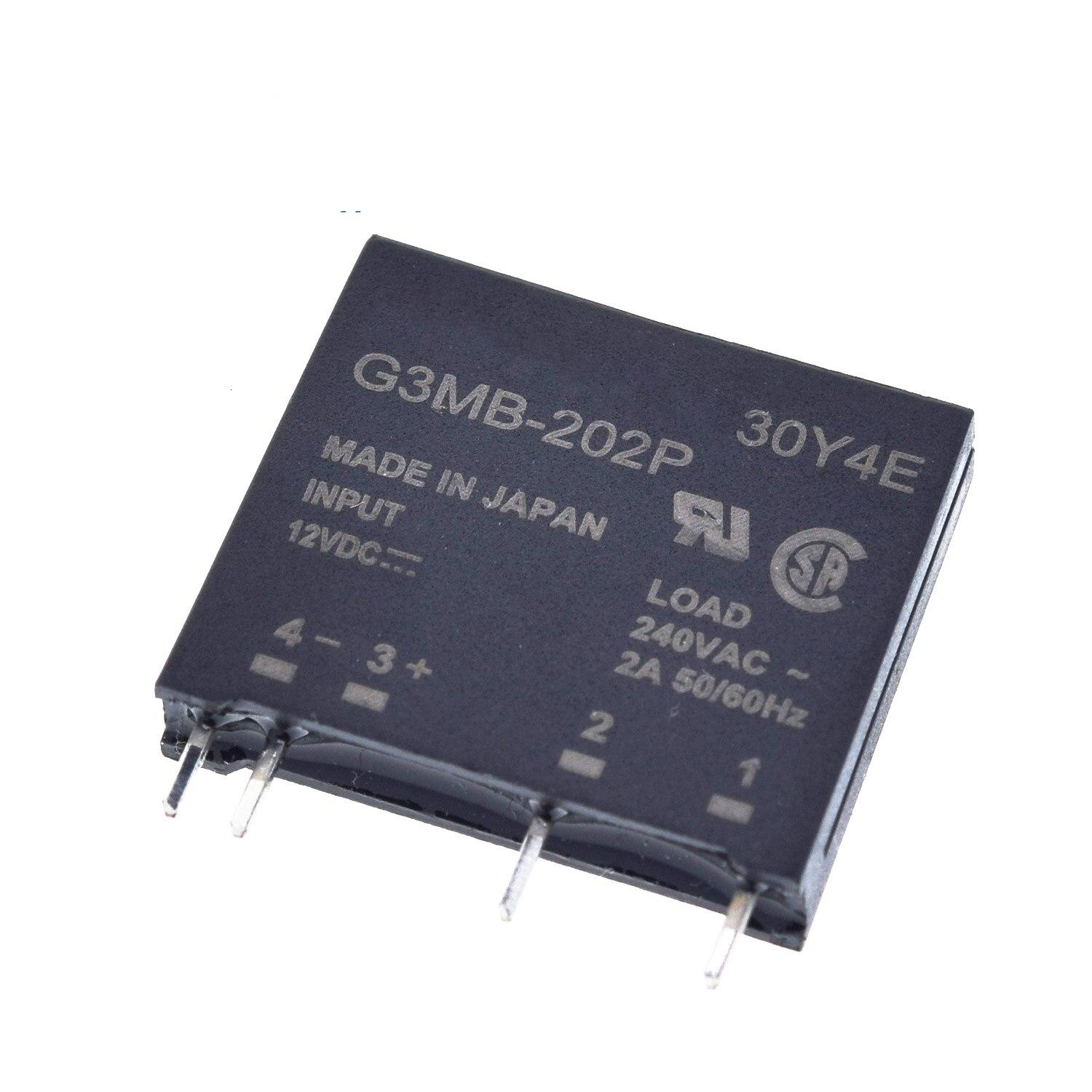 Solid State Relay G3MB-202P DC-AC PCB SSR In 5V 12V 24VDC Out 240V AC 2A