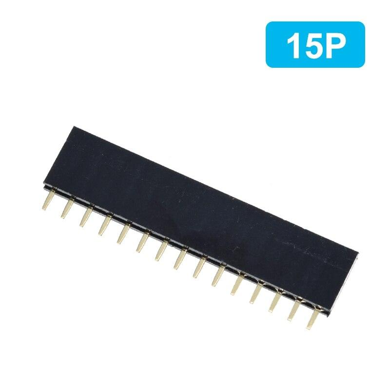 1PC Single Row Pin Female Header Socket Pitch 2.54mm 1*2P 3P 4P 6P 8P 12P 15P 20P 40P Pin Connector For Arduino